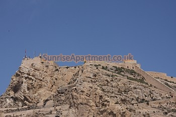 Alicante castle sits high above the city